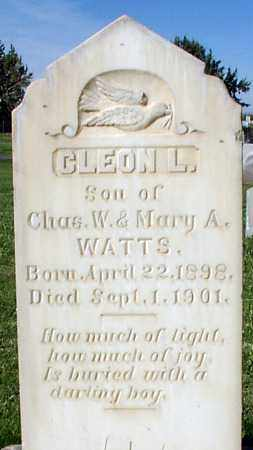 WATTS, CLEON L. - Millard County, Utah   CLEON L. WATTS - Utah Gravestone Photos