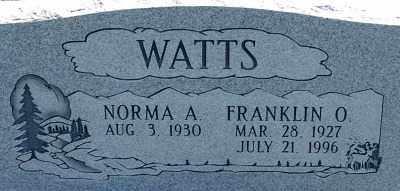 WATTS, NORMA A. - Millard County, Utah | NORMA A. WATTS - Utah Gravestone Photos