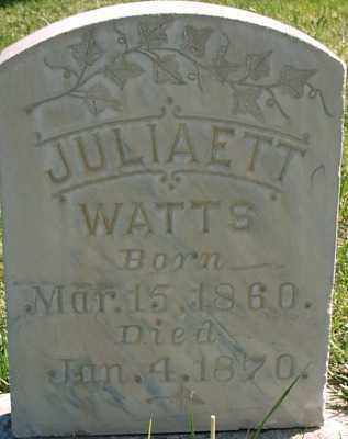 WATTS, JULIAETT - Millard County, Utah   JULIAETT WATTS - Utah Gravestone Photos