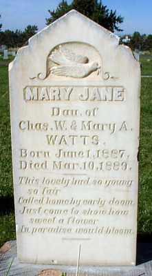 WATTS, MARY JANE - Millard County, Utah | MARY JANE WATTS - Utah Gravestone Photos