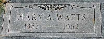 WATTS, MARY ANN - Millard County, Utah | MARY ANN WATTS - Utah Gravestone Photos