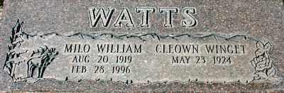 WATTS, CLEOWN - Millard County, Utah | CLEOWN WATTS - Utah Gravestone Photos