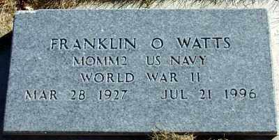 WATTS, FRANKLIN O - Millard County, Utah | FRANKLIN O WATTS - Utah Gravestone Photos