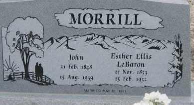 LEBARON MORRILL, ESTHER ELLIS - Piute County, Utah | ESTHER ELLIS LEBARON MORRILL - Utah Gravestone Photos