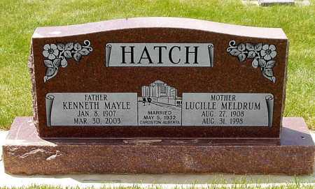 MELDRUM HATCH, LUCILLE - Rich County, Utah | LUCILLE MELDRUM HATCH - Utah Gravestone Photos
