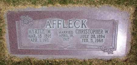 AFFLECK, FANNIE MYRTLE - Salt Lake County, Utah | FANNIE MYRTLE AFFLECK - Utah Gravestone Photos