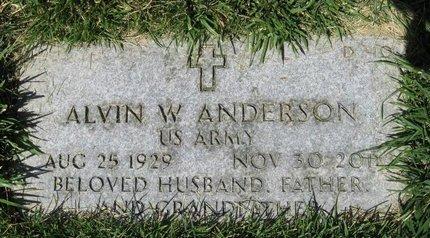 ANDERSON, ALVIN W - Salt Lake County, Utah   ALVIN W ANDERSON - Utah Gravestone Photos
