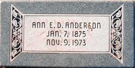 ANDERSON, ANN ELIZA - Salt Lake County, Utah | ANN ELIZA ANDERSON - Utah Gravestone Photos