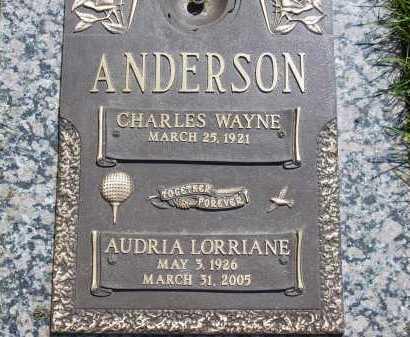 ANDERSON, CHARLES WAYNE - Salt Lake County, Utah   CHARLES WAYNE ANDERSON - Utah Gravestone Photos