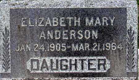 ANDERSON, ELIZABETH MARY - Salt Lake County, Utah | ELIZABETH MARY ANDERSON - Utah Gravestone Photos