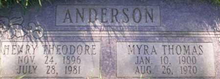 ANDERSON, HENRY THEODORE - Salt Lake County, Utah   HENRY THEODORE ANDERSON - Utah Gravestone Photos