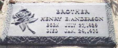 ANDERSON, HENRY EVERETT - Salt Lake County, Utah   HENRY EVERETT ANDERSON - Utah Gravestone Photos