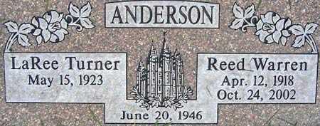 ANDERSON, LA REE - Salt Lake County, Utah | LA REE ANDERSON - Utah Gravestone Photos