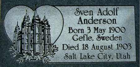 ANDERSON, SVEN ADOLF - Salt Lake County, Utah   SVEN ADOLF ANDERSON - Utah Gravestone Photos