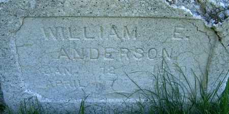 ANDERSON, WILLIAM ERASTUS - Salt Lake County, Utah | WILLIAM ERASTUS ANDERSON - Utah Gravestone Photos