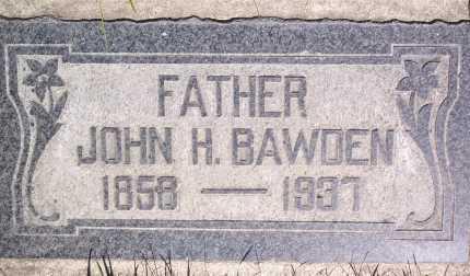 BAWDEN, JOHN HOWARD - Salt Lake County, Utah | JOHN HOWARD BAWDEN - Utah Gravestone Photos