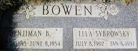 SZYBROWSKY BOWEN, ELLA EMELIE - Salt Lake County, Utah | ELLA EMELIE SZYBROWSKY BOWEN - Utah Gravestone Photos