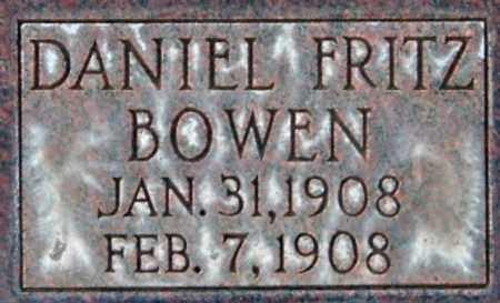 BOWEN, DANIEL FRITZ - Salt Lake County, Utah   DANIEL FRITZ BOWEN - Utah Gravestone Photos