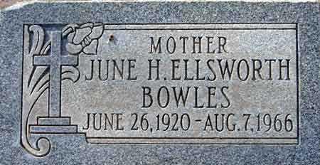 BOWLES, JUNE L. H. - Salt Lake County, Utah | JUNE L. H. BOWLES - Utah Gravestone Photos