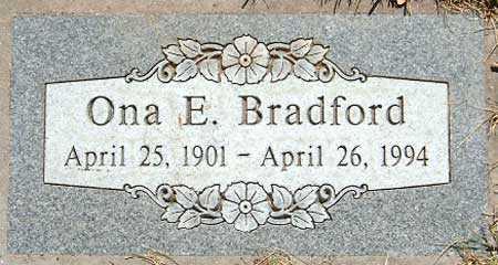 BRADFORD, ONA E. - Salt Lake County, Utah   ONA E. BRADFORD - Utah Gravestone Photos