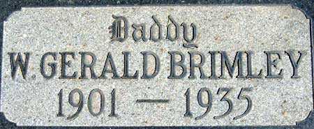 BRIMLEY, WALLACE GERALD - Salt Lake County, Utah | WALLACE GERALD BRIMLEY - Utah Gravestone Photos