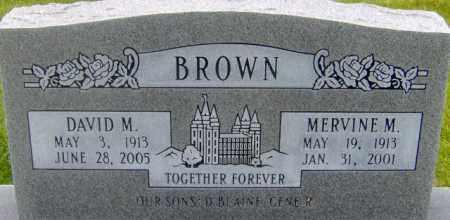 BROWN, MERVINE MARY - Salt Lake County, Utah   MERVINE MARY BROWN - Utah Gravestone Photos
