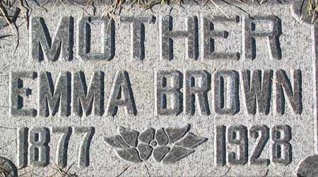 BROWN, EMMA - Salt Lake County, Utah | EMMA BROWN - Utah Gravestone Photos