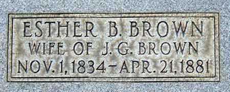 BROWN, ESTHER - Salt Lake County, Utah   ESTHER BROWN - Utah Gravestone Photos