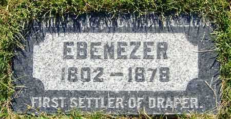 BROWN, EBENEZER - Salt Lake County, Utah   EBENEZER BROWN - Utah Gravestone Photos