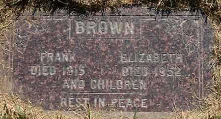 BROWN, FRANK - Salt Lake County, Utah | FRANK BROWN - Utah Gravestone Photos