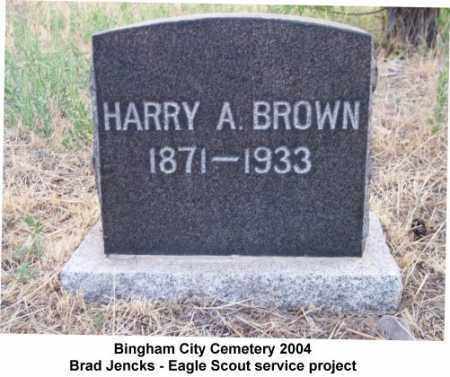 BROWN, HARRY ARTHUR - Salt Lake County, Utah   HARRY ARTHUR BROWN - Utah Gravestone Photos