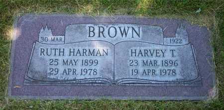 BROWN, HARVEY T. - Salt Lake County, Utah | HARVEY T. BROWN - Utah Gravestone Photos