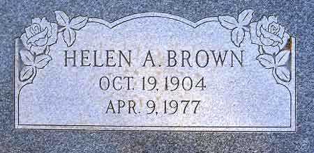 BROWN, HELEN - Salt Lake County, Utah   HELEN BROWN - Utah Gravestone Photos