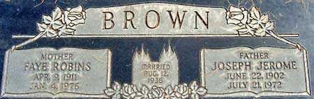BROWN, FAYE - Salt Lake County, Utah   FAYE BROWN - Utah Gravestone Photos