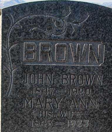 BROWN, JOHN - Salt Lake County, Utah | JOHN BROWN - Utah Gravestone Photos