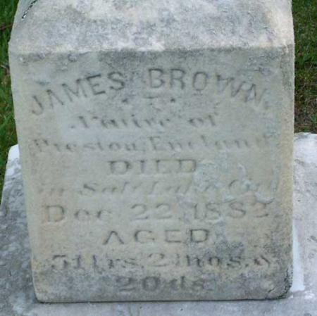 BROWN, JAMES - Salt Lake County, Utah | JAMES BROWN - Utah Gravestone Photos