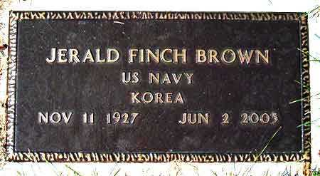 BROWN, JERALD FINCH - Salt Lake County, Utah | JERALD FINCH BROWN - Utah Gravestone Photos