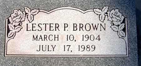 BROWN, LESTER PETER - Salt Lake County, Utah | LESTER PETER BROWN - Utah Gravestone Photos