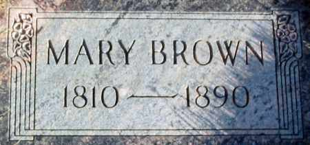 BROWN, MARY - Salt Lake County, Utah | MARY BROWN - Utah Gravestone Photos