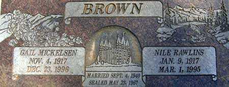 BROWN, NILE RAWLINS - Salt Lake County, Utah | NILE RAWLINS BROWN - Utah Gravestone Photos