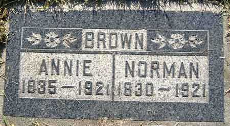 BROWN, ANNIE - Salt Lake County, Utah | ANNIE BROWN - Utah Gravestone Photos