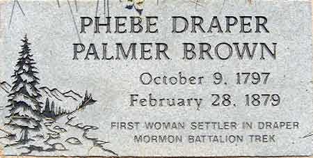 BROWN, PHEBE - Salt Lake County, Utah | PHEBE BROWN - Utah Gravestone Photos