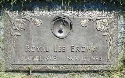 BROWN, ROYAL LEE - Salt Lake County, Utah | ROYAL LEE BROWN - Utah Gravestone Photos