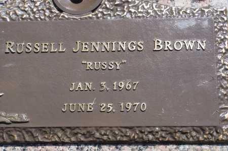 BROWN, RUSSELL JENNINGS - Salt Lake County, Utah   RUSSELL JENNINGS BROWN - Utah Gravestone Photos