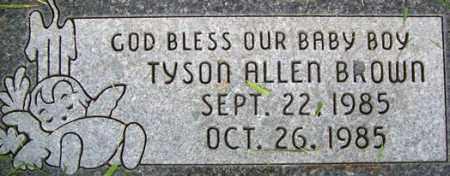BROWN, TYSON ALLEN - Salt Lake County, Utah | TYSON ALLEN BROWN - Utah Gravestone Photos