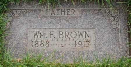 BROWN, WILLIAM F. - Salt Lake County, Utah   WILLIAM F. BROWN - Utah Gravestone Photos