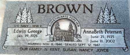 BROWN, ANNABETH - Salt Lake County, Utah | ANNABETH BROWN - Utah Gravestone Photos