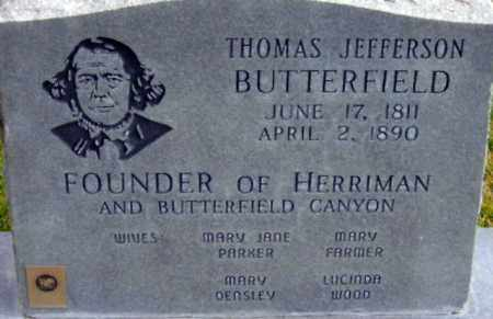 BUTTERFIELD, THOMAS JEFFERSON - Salt Lake County, Utah | THOMAS JEFFERSON BUTTERFIELD - Utah Gravestone Photos