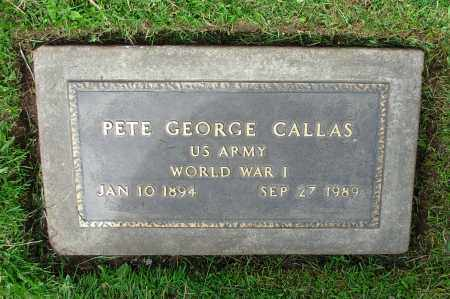 CALLAS, PETE GEORGE - Salt Lake County, Utah | PETE GEORGE CALLAS - Utah Gravestone Photos
