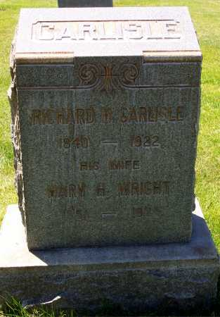 WRIGHT CARLISLE, MARY HANNAH - Salt Lake County, Utah   MARY HANNAH WRIGHT CARLISLE - Utah Gravestone Photos